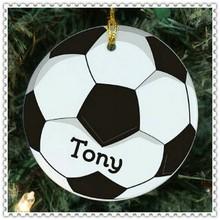 Popular FANS Glass Football Ornament For Bag Decoration