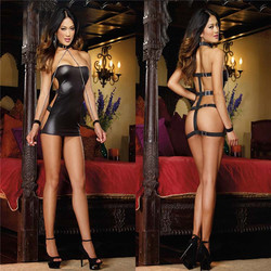 highly curious cat see through super hot women halloween sexy leather catsuit