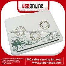 2012 hot sale notebook cooling pad with 3 fans