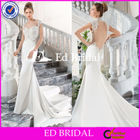 ST453 Wholesale Cap Sleeve Backless Sew On Beads Flower Patterns Heavy Beading Wedding Dresses In Dubai