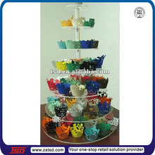 TSD-A461 factory Best sale crystal 7 tier acrylic cupcake display stand/crylic cupcake bakery display/acrylic cake pop stand