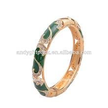 de lujo de jade pulsera para mujer de acero inoxidable pulsera brazalete de la aleación