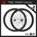 700c 50mm tubular roues carbone velo, de alta calidad baratos de carbono ruedas para la venta