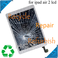 Good quality full fix LCD screen with digitizer assembly for ipad air 2 full LCD