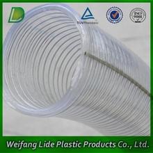 Aspiración en espiral de PVC descarga conducto con alambre de acero