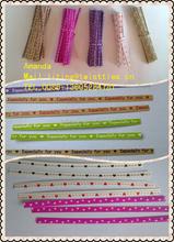 stripe/single color paper twist ties 4457