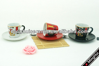 3oz cermaic tea cup and saucer wholesale