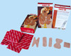 strong adhesive red cotton first aid bandage and strips