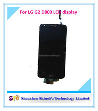 Factory stocks low price for LG g2 D800 digitizer LCD ,for LG D800 LCD assembly with 100% good feedback