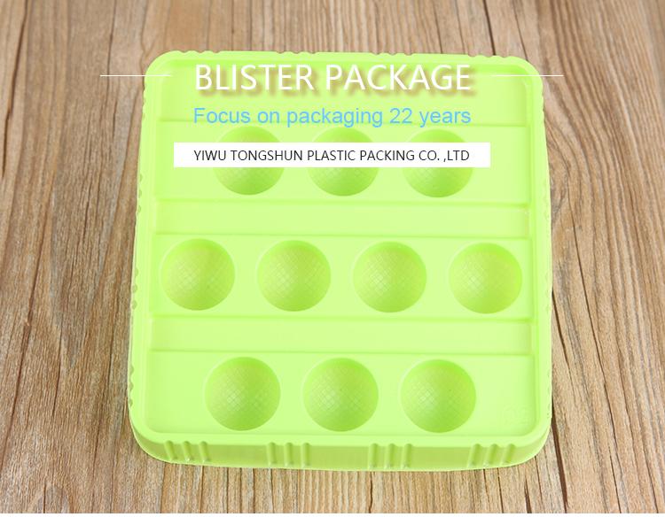 Atacado de alta qualidade bola de plástico ovo de codorna embalagem blister