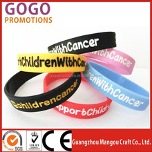 the cheapest custom political silicone wristbands, Personalized Fluorescent Shinning the Dark Silicone Hand band for Promotion