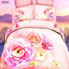 Wholesale 2014 best sale soft 3d fancy flower designer bed cover sheet