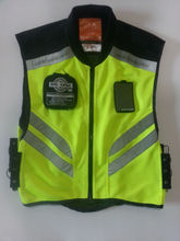 Riding, running, reflective safety vest
