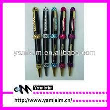 Promotional crystal copper pen rhinestone excutive pen