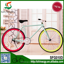 2015 new style 60mm alloy rim colorful road bike/bicycle fixed/fixie gear bike , single gear speed