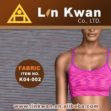 Linkwan Tawian fabric ladies designs high quality jersey knit all active sportswear fabric