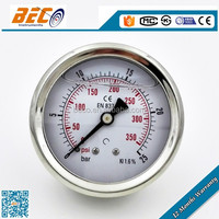 Best material Stainless steel case silicone oil filled dwyer pressure gauge