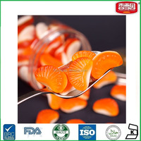 Orange Section Shaped Gummy Jelly Candy Yummy Soft Halal Jelly Candy