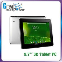 9.7'' Dual Core Tablet Allwinner 1.0GHz Capacitive 3D Tablet PC