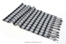 Mens checked pashmina scarf