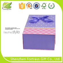 Fancy custom made paper box with ribbon