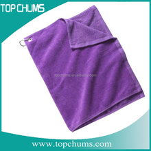 Custom Cotton pocket and hook golf towels,embroidery golf towels,microfiber velour golf towel