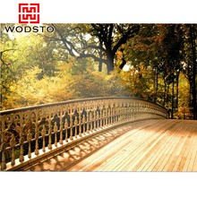 Decorative texture of wood for Ecological Park decking ground