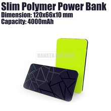 4000mAh USB Powered Mobile Polymer Slim Power Bank with Led Flashlight for Most Mobile Phones Made in China