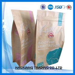 Resealable Kraft Food Paper Ziplock Bags/Dog treat Packing Paper materials Bag/Dog food Bag