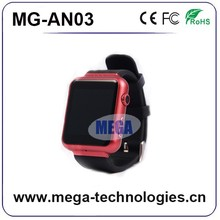 Smart Watch Android Watch Phone 3G WCDMA Smart phone Android 4.4 MTK6572 Dual Core GPS Bluetooth 4.0