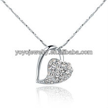 2013 Titanic Heart of Ocean pendant Austria crystal jewelry necklace Mix Color Option