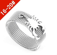 Bohemian jewelry wholesale titanium steel ring of scorpion shape men ring with Adjustable ring silver jewelry