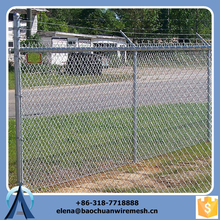 Low price high quality 3.5mm wire 6 foot chain link fencing / 50x50mm chain link fabric / used chain link fence for sale