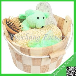 Comfortable Wooden Bathroom Shower Gift Set Wholesale