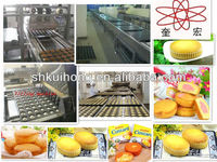 2015 CE approved Full automatical custard cake plant/ Full automatic cake production line