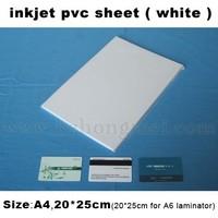 Wholsale Price White laminating Inkjet Printing PVC Sheet PVC Material 210*297mm*0.3mm