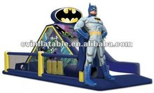 2012 popular new design infatable batman funny chanllenge obstacle course