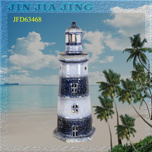 The lighthouse candle lantern,ceramic candle holder decoration,use the candle ceramic lighthouse