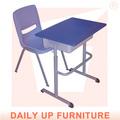 Monoplaza de plástico silla y escritorio estable adjunta mobiliarioescolar estudiante aula 2- piezas de este conjunto de