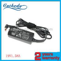 venta de baterias cargador para notebook for toshiba 19V1.58A 5.5*2.5mm 30w