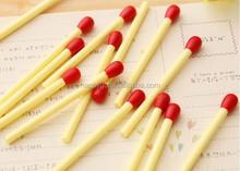 5.5cm length plastic matchstick cheap short ballpoint pen