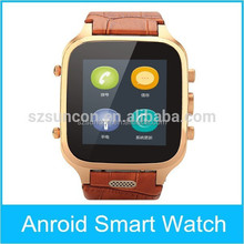 Android 4.4 bluetooth 4.0 smart watch gsm mobile watch phone with video call Real-Time SMS
