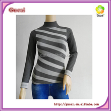 Ladies seamless polyester long sleeve tops