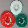 Colorful bowl cover for Christmas Holiday, disposable bowl covers, plastic elastic bowl covers