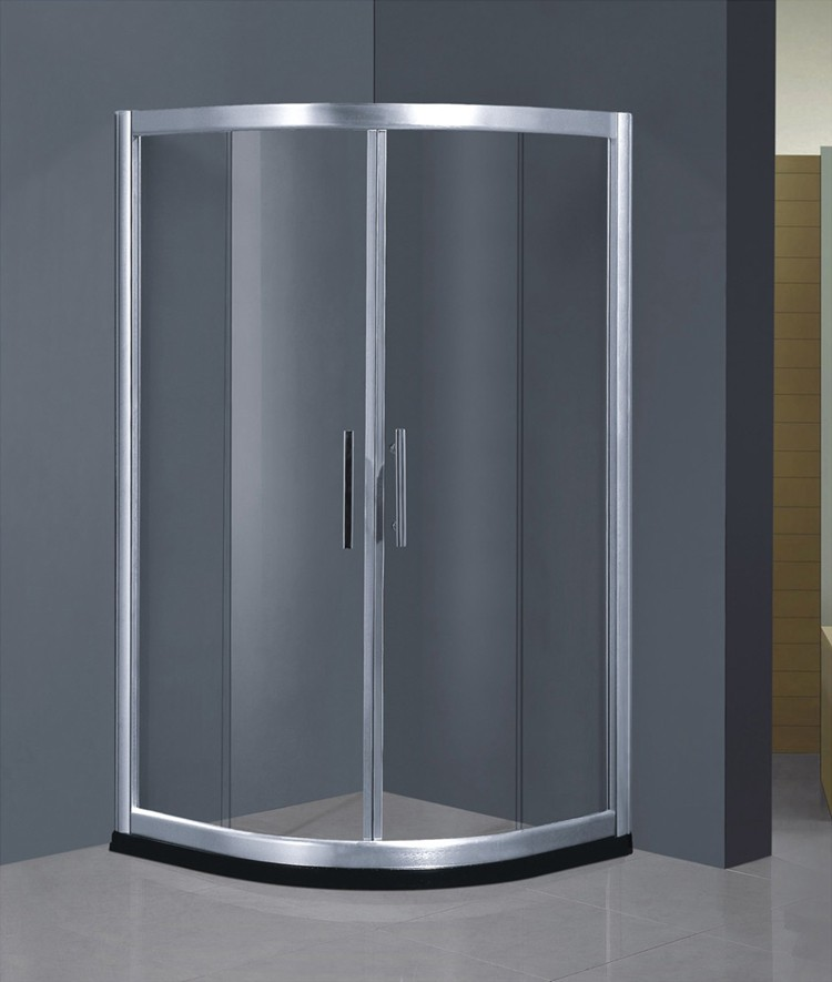China Tempered Corner Circular Glass Shower Enclosure / Shower Room ...