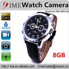 Best price 12 mega pixels mini digital recorder ,hidden camera ,waterproof pinhole IR night vision 1080P 8gb camera watch Q1