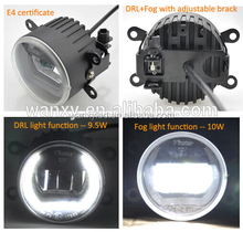 Exclusive dayline guide design auto led light 7cm diameter drl and fog light headlight led