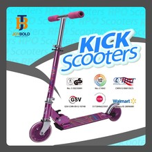 Cool outdoor adult 2 wheel pedal foldable kick step pedal scooter with wide deck approved by CE GS JB201A