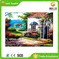 Exporter of new style of decoration diamond drawing 3d canvas modern oil painting