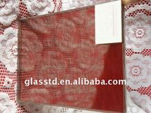 Red safety laminated glass for warbrobe doors